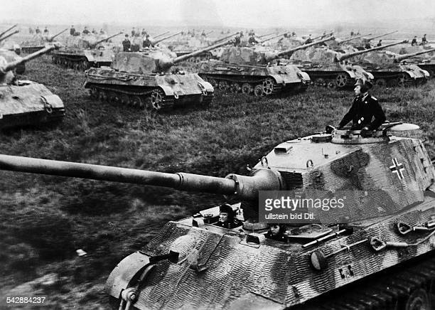 A formation of Tiger II tanks January 1945