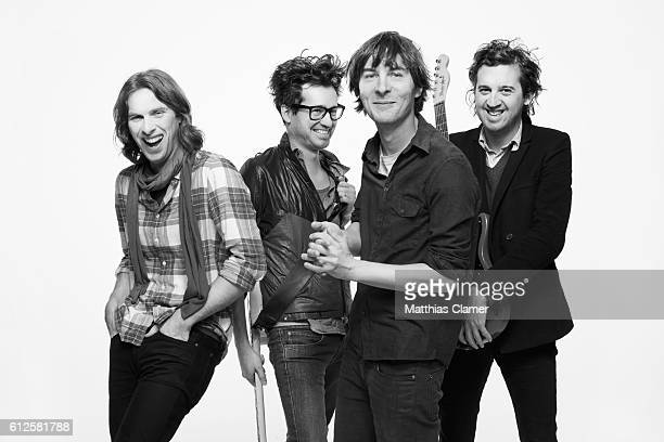 Formed in 1999 the French rock band Phoenix is photographed in 2009