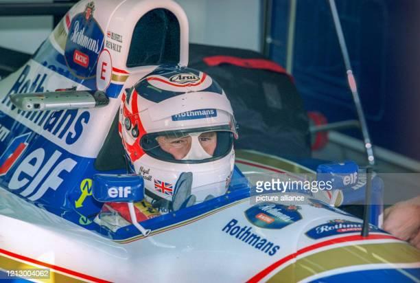 Formel 1 1994 - Großer Preis von Europa in Jerez de la Frontera am : Der Brite Nigel Mansell im Cockpit seines Williams-Rennwagens.