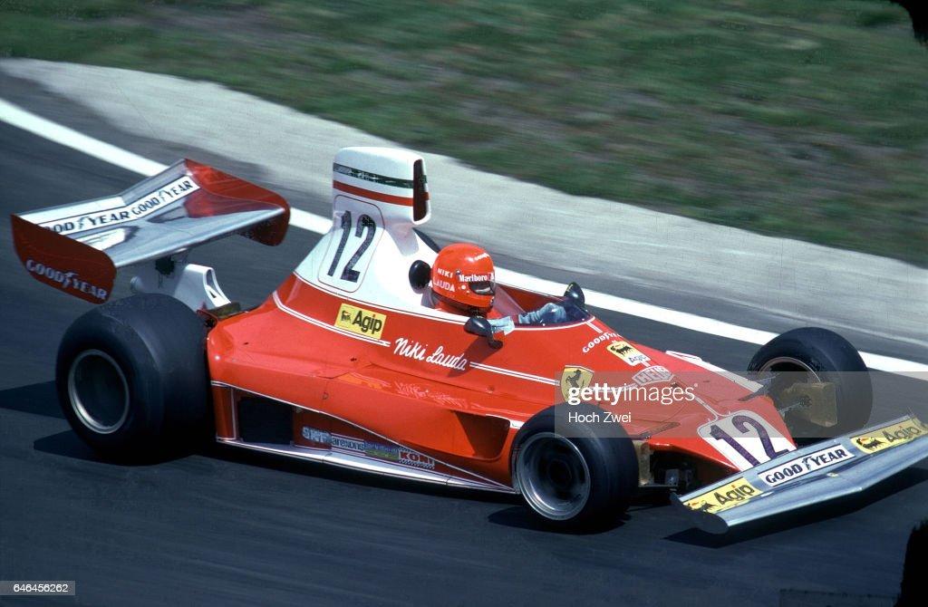 Formel 1, Grand Prix Belgien 1975, Zolder, 25.05.1975 Niki Lauda, Ferrari 312T www.hoch-zwei.net , copyright: HOCH ZWEI : News Photo