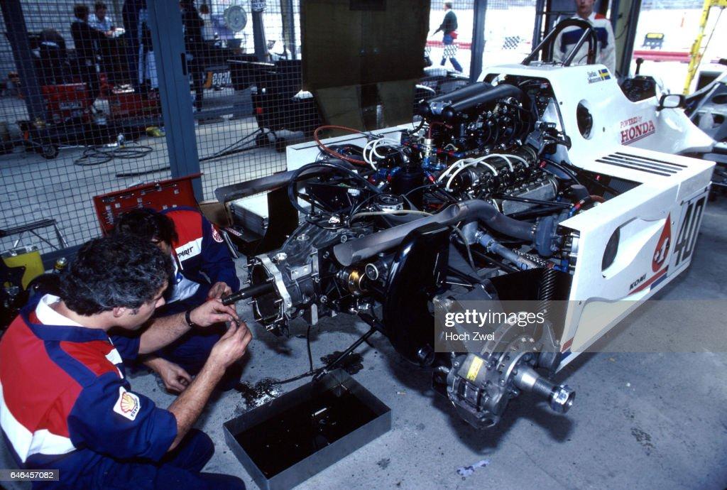 Formel 1, Grand Prix Brasilien 1983, Jacarepagua, Rio de Janeiro, 13.03.1983 Spirit-Box Stefan Johansson, Spirit-Honda 2 : News Photo