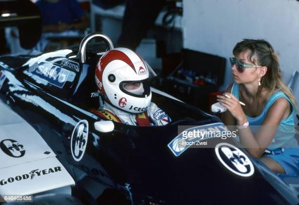 Formel 1 Grand Prix Brasilien 1983 Jacarepagua Rio de Janeiro TheodoreBox Johnny Cecotto TheodoreFord N183 Martina Cecotto wwwhochzweinet copyright...