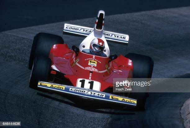 Formel 1 Grand Prix Deutschland 1975 Nuerburgring Nordschleife Clay Regazzoni Ferrari 312T wwwhochzweinet copyright HOCH ZWEI / Ronco