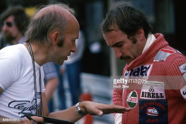 Formel 1 Grand Prix Deutschland 1977 Hockenheimring Boxengasse EnsignBox Morris Nunn Ensign Clay Regazzoni wwwhochzweinet copyright HOCH ZWEI / Ronco