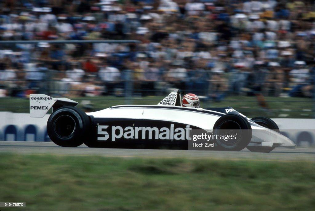 Formel 1, Grand Prix Deutschland 1981, Hockenheimring, 02.08.1981 Nelson Piquet, Brabham-Ford BT49C www.hoch-zwei.net , : News Photo