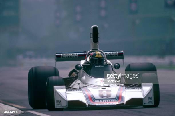 Formel 1 Grand Prix Italien 1975 Monza Carlos Pace BrabhamFord BT44B wwwhochzweinet copyright HOCH ZWEI / Ronco