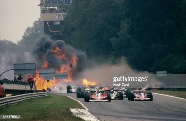 Formel 1 Grand Prix Italien 1978 Monza Start Gilles Villeneuve Ferrari 312T3 Niki Lauda BrabhamAlfa Romeo BT46 Mario Andretti LotusFord 79...