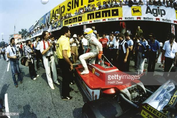 Formel 1 Grand Prix Italien 1979 Monza Boxengasse FerrariBox Jody Scheckter Ferrari 312T4 FerrariTeam wwwhochzweinet copyright HOCH ZWEI / Ronco