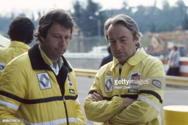 Formel 1 Grand Prix Italien 1980 Imola Boxengasse RenaultBox Bernard Dudot Renault Gerard Larrousse Renault wwwhochzweinet copyright HOCH ZWEI / Ronco
