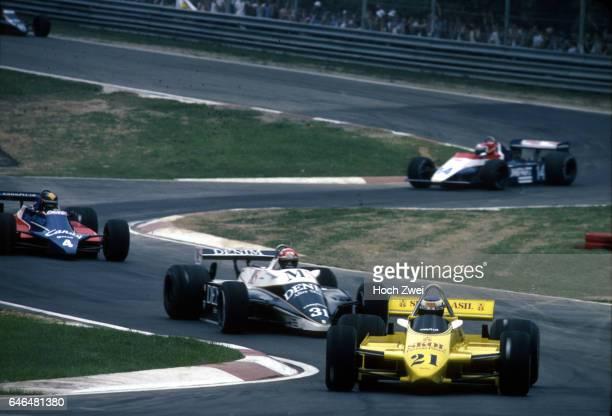 Formel 1 Grand Prix Italien 1980 Imola Keke Rosberg FittipaldiFord F8 Eddie Cheever OsellaFord FA1 Derek Daly TyrrellFord 010 Jan Lammers EnsignFord...