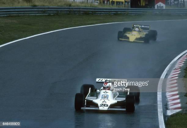 Formel 1 Grand Prix Niederlande 1979 Zandvoort Clay Regazzoni WilliamsFord FW07 Arturo Merzario MerzarioFord A2 wwwhochzweinet copyright HOCH ZWEI /...