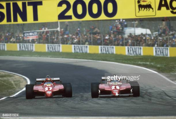 Formel 1, Grand Prix San Marino 1982, Imola, Didier Pironi, Ferrari 126C2 Gilles Villeneuve, Ferrari 126C2 www.hoch-zwei.net , copyright: HOCH ZWEI /...