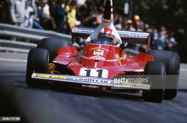 Formel 1 Grand Prix Spanien 1975 Montjuich Clay Regazzoni Ferrari 312T wwwhochzweinet copyright HOCH ZWEI / Ronco