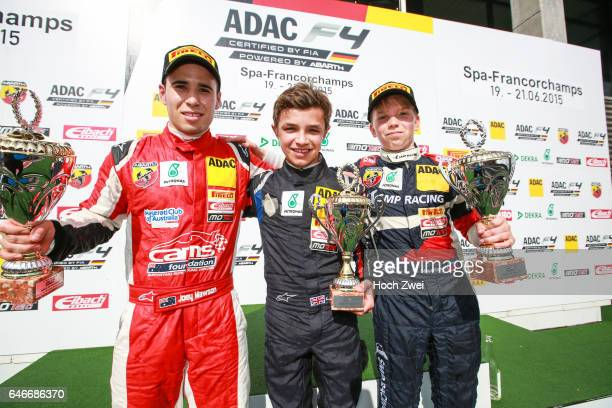 Formel 4 3 Event 2015 SpaFrancorchamps BEL 36 Joey Mawson Van Amersfoort Racing 69 Lando Norris ADAC BerlinBrandenburg eV 4 Robert Shwartzman ADAC...