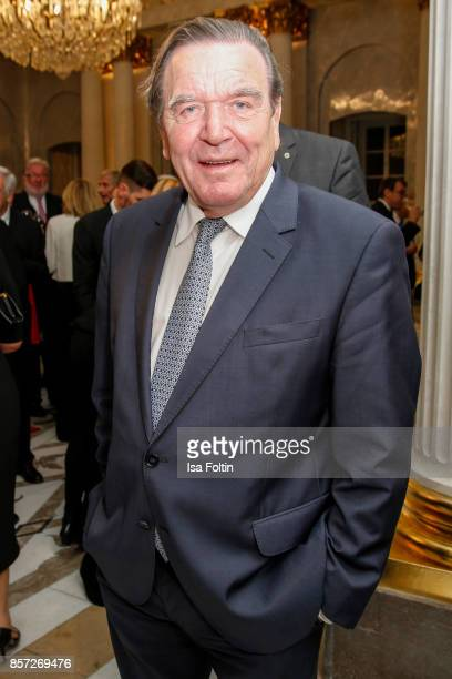Formen German chancellor Gerhard Schroeder during the ReOpening of the Staatsoper Unter den Linden on October 3 2017 in Berlin Germany