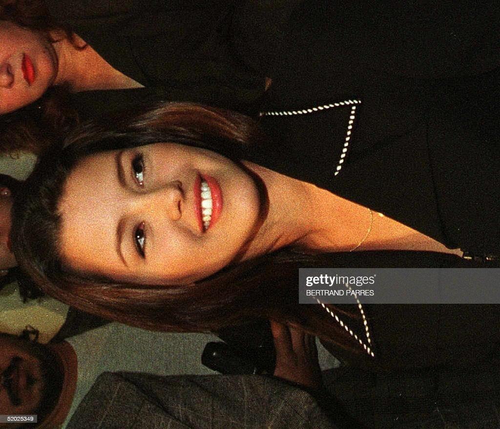 Alicia Smiles former 1995 miss universe alicia machado of venezuela smiles