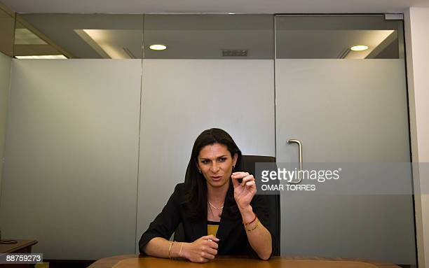 Former 400m sprinter World Champion Ana Gabriela Guevara is seen during an interview with AFP on June 29 2009 Guevara put herself forward as...