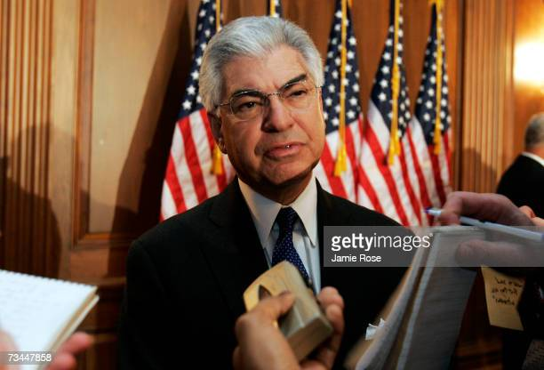 Former 9/11 Commissioner Richard BenVeniste speaks to reporters following a press conference to discuss a bill which will call on Congress to fully...
