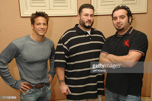 Former 98 Degrees member Jeff Timmons Bryan Abrams of Color Me Badd and Chris Kirkpatrick of *NSYNC