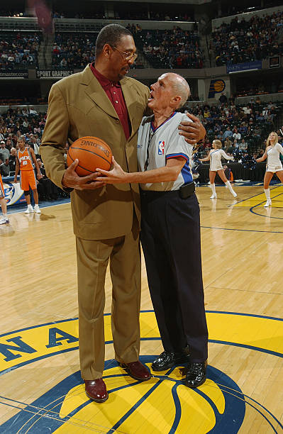 Phoenix suns v indiana pacers former aba player and indiana pacer mel daniels was honored prior to the start of the voltagebd Images