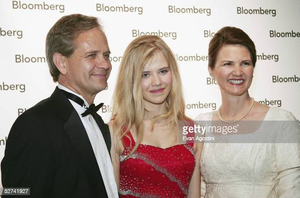 Former abductee Elizabeth Smart and her parents Ed Smart and Lois Smart attend the Bloomberg News Party of the Year following The White House...