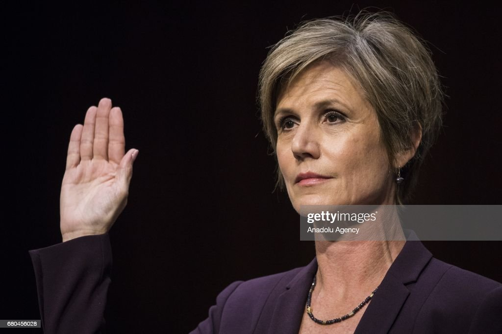 Former Acting Attorney General Sally Yates Testifies on Russian Election Interference and Michael Flynn : News Photo