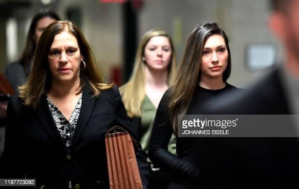 Former Actress Jessica Mann arrives for the trial of Harvey Weinstein at the Manhattan Criminal Court on January 31 2020 in New York City