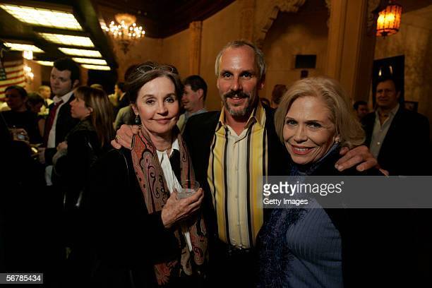 Former actress Millie Perkins producer Seth Isler and former actress Margaret Maggie Blye at the opening of the Battle of Gettysburg short film...