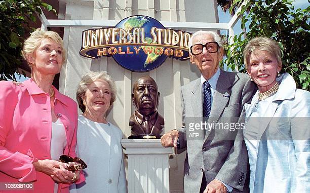 Former actress Tippi Hedren Alfred Hitchcock's daughter Pat Hitchcock O'Connell Universal Studios Executive Bob Wasserman and actress Janet Leigh...