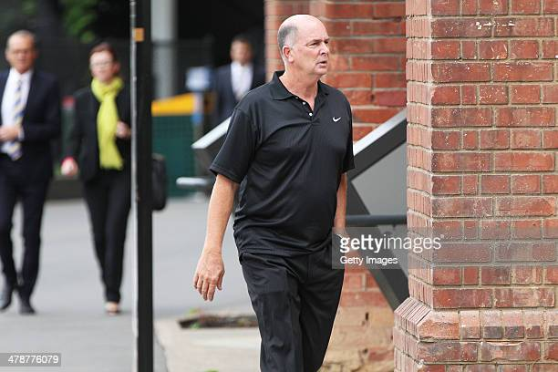 Former Adelaide 36ers coach Phil Smyth during the Dean Bailey public memorial service at Adelaide Oval on March 15 2014 in Adelaide Australia Bailey...