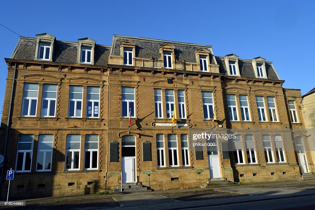 Former administration building. : Stock Photo