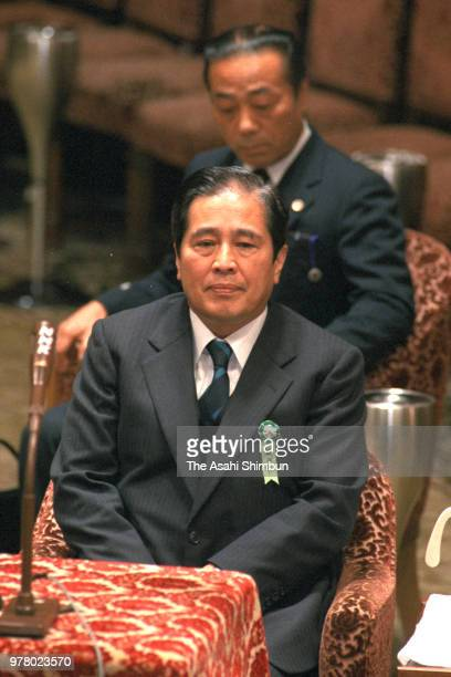 Former Administrative Vice Education Minister Kunio Takaishi is seen as he is summoned at a special committee to investigate the scandal at the Diet...