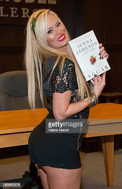 Former adult actress Jenna Jameson signs copies of her new book 'Sugar' at Barnes & Noble bookstore at The Grove on October 25, 2013 in Los Angeles,...
