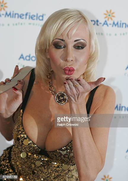 Former adult film actress Dolly Buster arrives at the 'AdoptAMinefield' Benefit Gala in support of landmines victims on May 28 2005 in Neuss Germany