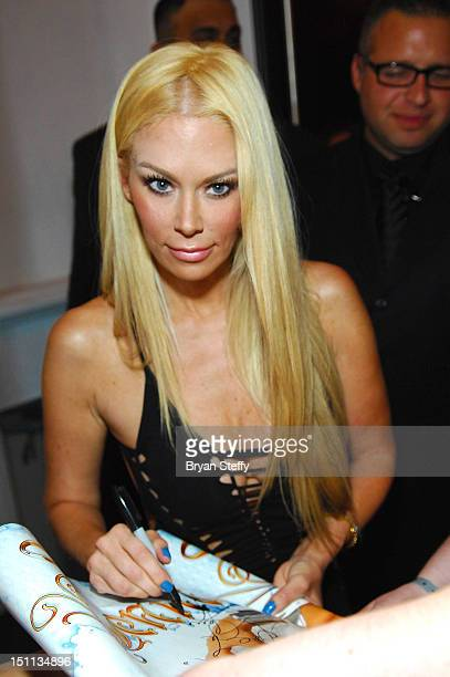 Former adult film actress Jenna Jameson appears at the Crazy Horse III Gentleman's Club at Playground on September 1 2012 in Las Vegas Nevada