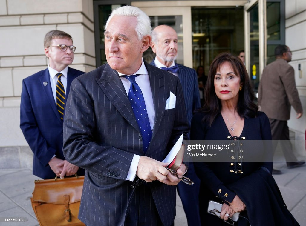 Jury Finds Roger Stone Guilty In Obstruction Trial : News Photo