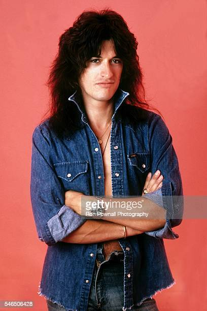 Former Aerosmith guitarist Joe Perry poses for a portrait in the photographer's studio in Cambridge Massachusetts in August 1983