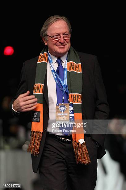 Former AFL coach Kevin Sheedy arrives for the 2013 Blackwoods North Melbourne Grand Final Breakfast at Etihad Stadium on September 28 2013 in...
