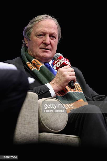 Former AFL coach Kevin Sheedy speaks during the 2013 Blackwoods North Melbourne Grand Final Breakfast at Etihad Stadium on September 28 2013 in...