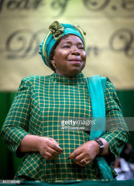 Former African Union chair and current African National Congress front runner for ANC President Nkosazana DlaminiZuma attends the KwazuluNatal ANC...