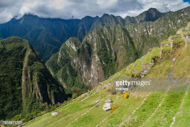 former agricultural terraces at machu picchu