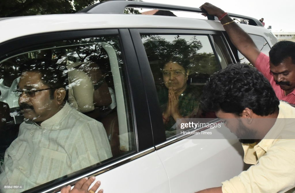 AIADMK Leader VK Sasikala Leave The Bangalore Jail On A Five-Day Parole