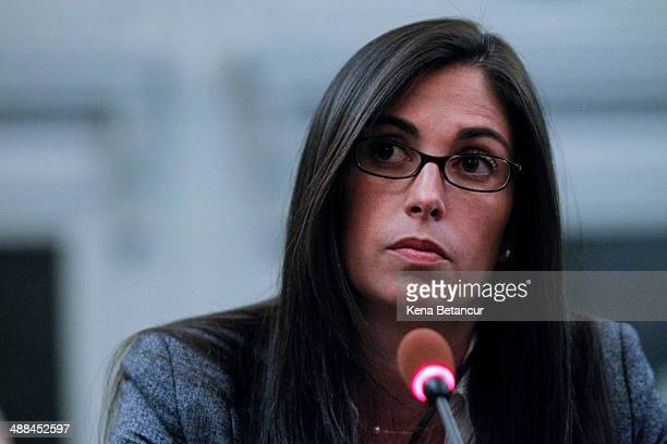 Former aide to New Jersey Gov Chris Christie Christina Renna testifies during a hearing by the New Jersey Legislature's Select Committee on...