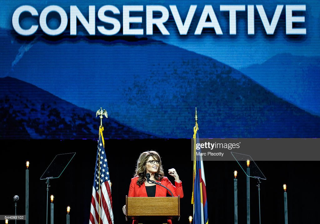 Donald Trump Addresses Western Conservative Summit In Denver