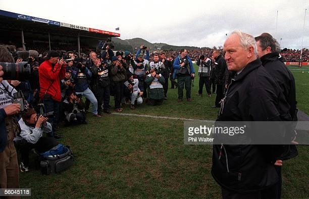 Former All Black Sir Wilson Wineray stands for the photographers at Athletic Park as part of the Living Legends team to say farewell to Athletic Park...