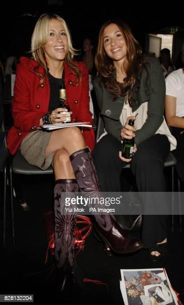 Former All Saints bandmates Nicole Appleton and Melanie Blatt during designer Betty Jackson's London Fashion Week spring/summer 2006 show at the BFC...