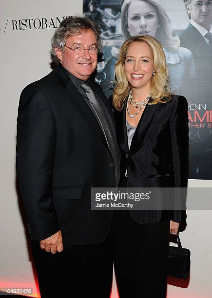 Former Ambassador Joseph Wilson and former CIA officer Valerie Plame Wilson attends the after party for the Giorgio Armani The Cinema Society...