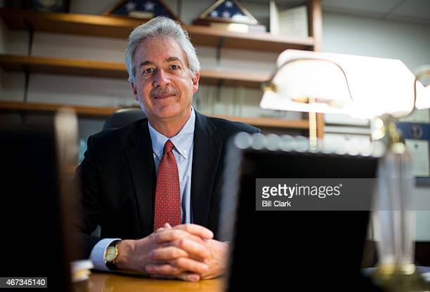 Former Ambassador William Burns president of the Carnegie Endowment for International Peace poses at his desk in Washington on Friday March 20 2015