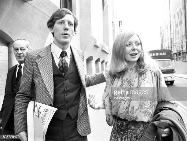 Former American beauty queen Joyce McKinney and her friend Keith May in London after successfully applying for variations of the conditions of their...