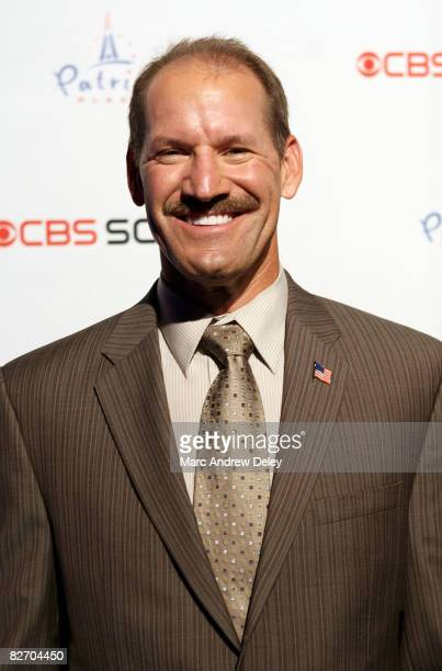 Former American football coach Bill Cowher attends the grand opening of the CBS Scene Restaurant Bar at Patriot Place on September 6 2008 in Foxboro...
